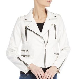 NWT Blank NYC White Faux Leather Moto Jacket